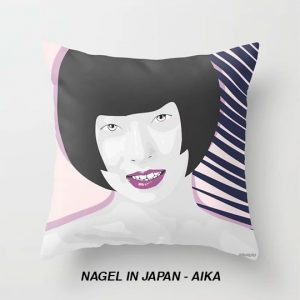 Throw Pillow - Nagel In Japan - Aika